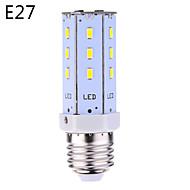 E14/E26/E27 7W 20*5630 SMD 620LM Warm White/Cool White LED Corn Bulbs AC 100-240 V