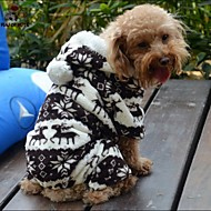 Dog Coats / Hoodies / Pants - S / M / L / XL / XXL - Winter - Brown / Gray - Wedding / Cosplay - Polar Fleece