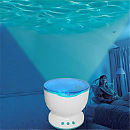 hry®は、ミニスピーカーと夜の光プロジェクター海青い海の波投影ランプを率いて