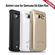 4200mah ekstern bærbare backup batteri Taske til Samsung Galaxy s6 kant plus (assorterede farver)