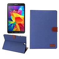 Pour Samsung Galaxy Coque Porte Carte Portefeuille Avec Support Clapet Coque Coque Intégrale Coque Couleur Pleine Cuir PU pour SamsungTab
