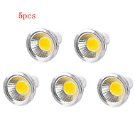 5pcs HRY® 3W GU10/E27/GU5.3 250LM Warm/Cool White Light LED COB Spot Lights(85-265V)