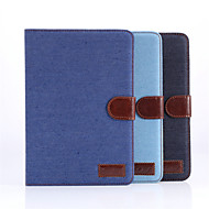 DE JI Jean Canvas Leather Case for Apple ipad mini 1/2/3 with Retina Display, Cowboy Stand Case for iPad mini 1 2 3