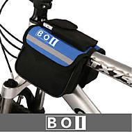 BOI® 自転車用バッグ 1.9L自転車用フロントバッグ 防水 / 防水ファスナー / 耐衝撃性 / 耐久性 自転車用バッグ 600Dリップストップ / 布 サイクリングバッグ 他の同様のサイズの携帯電話 キャンピング&ハイキング / レジャースポーツ / サイクリング