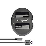 EOS 550D 600D 650d 700D 카메라 캐논 LP-E8 배터리에 대한 kingma® 듀얼 슬롯의 USB 배터리 충전기