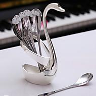 304 Stainless Steel Creative Small Fork Coffee Spoon Swan Tableware