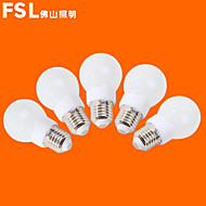 5 pcs fsl E26/E27 3W 9 SMD 3528 500 LM Warm White/Cool White G Globe Bulbs AC 220-240 V