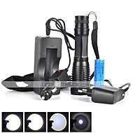 LED taskulamput LED 5 Tila 1800 LumeniaSäädettävä fokus / Vedenkestävä / ladattava / Iskunkestävä / Isku viiste / Taktinen / Hätä /