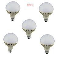 5pcs HRY® 12W E27 1150LM 2835SMD Cool White Sound & Light Control Lamp LED Smart Bulbs(220-240V)