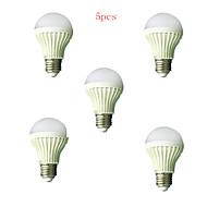 5pcs HRY® 5W E27 450LM 2835SMD Warm/Cool White Sound & Light Control Lamp LED Smart Bulbs(220-240V)
