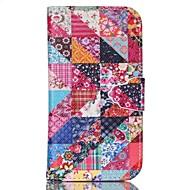 Varten Samsung Galaxy kotelo Tuella Etui Kokonaan peittävä Etui Geometrinen printti Tekonahka SamsungS6 edge plus / S6 / S5 Mini / S5 /