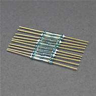 kontaktron / wyłącznik magnetyczny / rozmiar szkła - złoty + zielony (10 szt / 2 x 14mm)