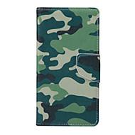 Til Samsung Galaxy etui Etuier Kortholder Pung Med stativ Flip Heldækkende Etui Camouflage Kunstlæder for SamsungJ5 J2 J1 Grand Prime