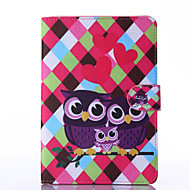 Love Owls Pattern PU Leather Full Body Case with Stand for iPad  Mini 4
