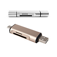 USB Type-C Card reader : 1*USB 2.0 Port + 1* USB Type-C Port for Macbook Google Tablet LETV Phone and Windows Computer