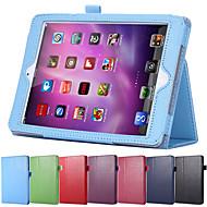 flip superficie litchi caja de cuero de la PU para el mini iPad de Apple 4 con retina estela sueño magnético soporte inteligente