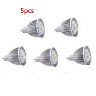 5 stuks HRY GU5.3(MR16) 8W 16 SMD 5630 650LM LM Warm wit / Koel wit MR16 Decoratief LED-spotlampen DC 12 V