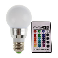 3W E27/E14 180LM RGB LED Light Color Changing Lamp Bulb With Remote Control (85-265V)