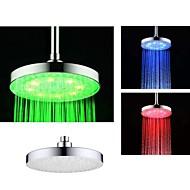 8 pulgadas cromo ducha de lluvia de colores cabezal de ducha llevado