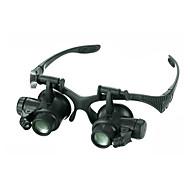 안경 확대 렌즈 고해상도 LED 저항하는 날씨 Fogproof 일반적인 넓은 각도 헤드셋 20 25 메탈 알루미늄