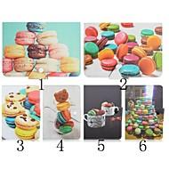 patrón de galletas de alta calidad de cuero de la PU con el caso del soporte para la tableta de 7 pulgadas universales