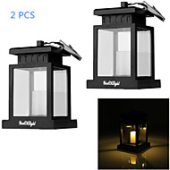 youoklight® 2pcs solare 0.06w 30lm bianco caldo ha portato lampada di campeggio esterna decorazione cortile