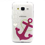 Varten Samsung Galaxy kotelo Läpinäkyvä Etui Takakuori Etui Ankkuri TPU Samsung Core