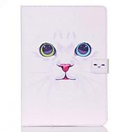 patrón de gato blanco Standoff funda protectora para el ipad de aire 2