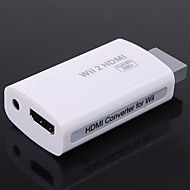 # - Wi-W2H001 - med Mini / Nyhet - av Metall / ABS - Audio och Video - Kablar och Adapters - till Nintendo Wii