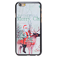 Christmas Style Santa and Deer Pattern PC Hard Back Cover for iPhone 6 Plus