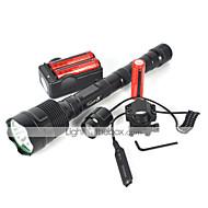 Latarki LED LED 4800 Lumenów 5 Tryb Cree XM-L T6 18650 Odporne na czynniki zewnętrzne Akumulator Wodoodporne Nagły wypadek Strike Bezel