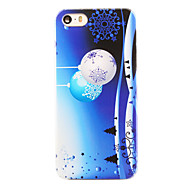 Christmas Style Snowflake Bells Pattern Transparent PC Back Cover for iPhone 5/5S