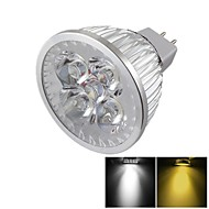 YouOKLight® MR16 4W Dimmable 4-LED Spotlight Warm White/Cold White Light 3000/6000k 400lm (DC 12V)