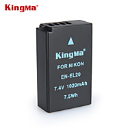 니콘 kingma 엉 el20 bmpcc 디지털 카메라 배터리 COOLPIX J1 J2 J3 S1 AW1 MH-27
