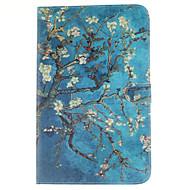 Pour Samsung Galaxy Coque Porte Carte Portefeuille Avec Support Clapet Motif Coque Coque Intégrale Coque Fleur Cuir PU pour SamsungTab E