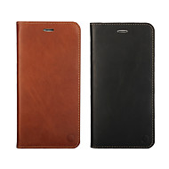 Til iPhone 8 iPhone 8 Plus iPhone 5 etui Etuier Pung Kortholder Flip Heldækkende Etui Helfarve Hårdt Ægte læder for iPhone 8 Plus iPhone