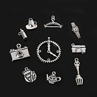 Beadia Metal Charm Pendants Antique Silver Watch Camera DIY Jewelry Accessories