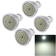 4pcs youoklight® GU10 7W 600lm 48 * smd2835 אור הזרקורים לבנים קרים, lampu דאייה tinggi dipimpin sorotan (ac110- 240V)