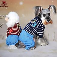 犬用品 ジャンプスーツ レッド ブルー グレー 犬用ウェア 冬 春/秋 ジーンズ カウボーイ ファッション