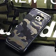 For Samsung Galaxy etui Stødsikker Etui Bagcover Etui Camouflage PC for Samsung S6 edge plus S6 edge S6 S5