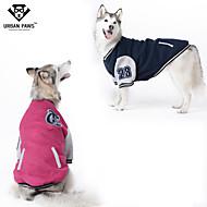 개 맨투맨 스웻티셔츠 레드 블루 강아지 의류 겨울 모든계절/가을 컬러 블럭 패션 스포츠