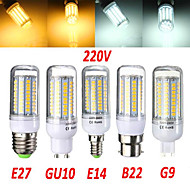 Bombillas Mazorca Decorativa 无 B E14 / G9 / GU10 / B22 / E26/E27 18 W 102 SMD 2835 1650 LM Blanco Cálido / Blanco Fresco AC 100-240 V1