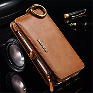 PU Leather Zipper Handbag Wallet Purse with Card Slot Phone Case Cover for iPhone 6s 6 Plus