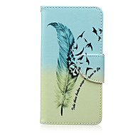 Feather Painted PU Phone Case for Galaxy Grand Prime/Core Prime/J5/J7/J1