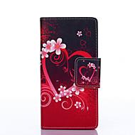 Na Samsung Galaxy Etui Etui na karty / Portfel / Z podpórką / Flip / Wzór Kılıf Futerał Kılıf Serce Skóra PU Samsung On 5 / J5 / J3