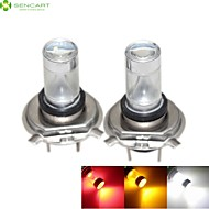 2 x H4 P43T 30W 6xCREE White / Red / Yellow / Cold White 2100LM 6500K for Car Fog Light / daytime running lights  12-24V