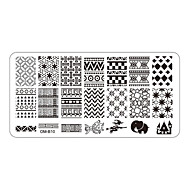 5pcs Rectangular Nail Art Stamping Plates Fashion Design Polish Stamp Print Mould Template (OM-B06 to OM-B10)