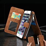 革財布カードは6プラス6S iphone用の磁力革財布を分割します