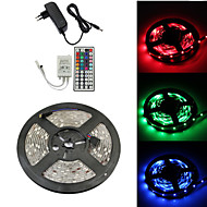 Waterproof 5M 150X5050 SMD RGB LED Strip Light and 44Key Remote Controller and 3A EU US UK AU Power Supply (AC110-240V)
