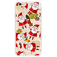 Kerst witte baard patroon TPU soft phone case iphone 6 / 6s